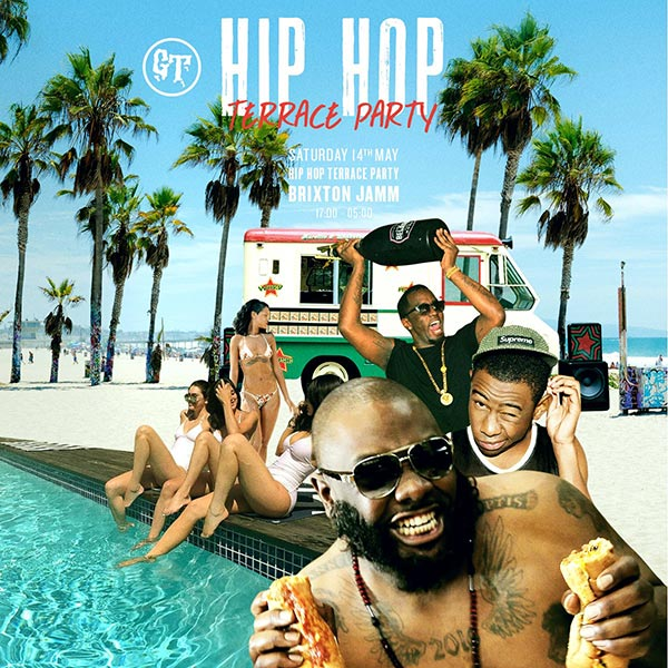 Hip  Hop BBQ Terrace Party at KOKO on Saturday 14th May 2016 Flyer