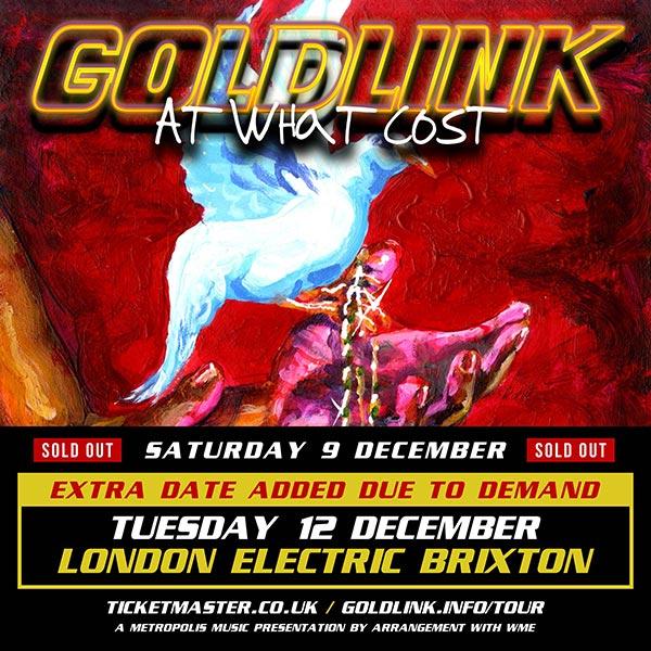 Goldlink at Electric Brixton on Tue 12th December 2017 Flyer