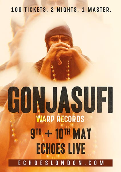 Gonjasufi at Archspace on Tue 9th May 2017 Flyer