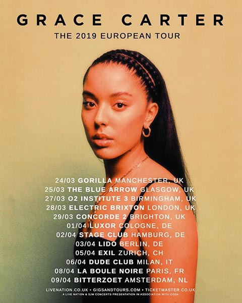 Grace Carter at Electric Brixton on Thu 28th March 2019 Flyer