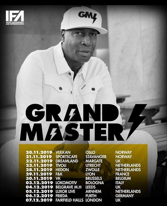 Grandmaster Flash at Fairfield Halls on Sat 7th December 2019 Flyer