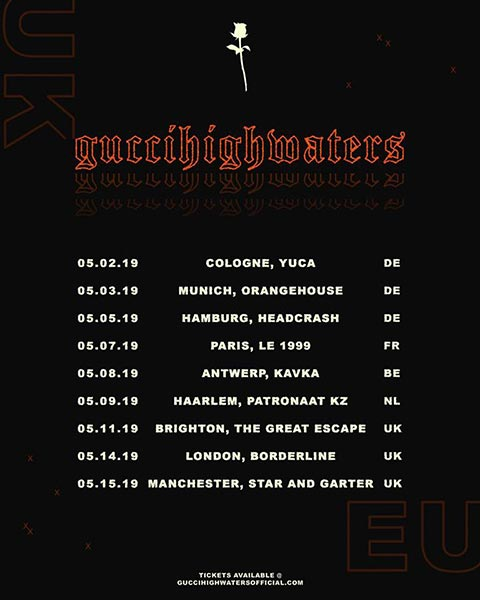 guccihighwaters at Borderline on Tue 14th May 2019 Flyer