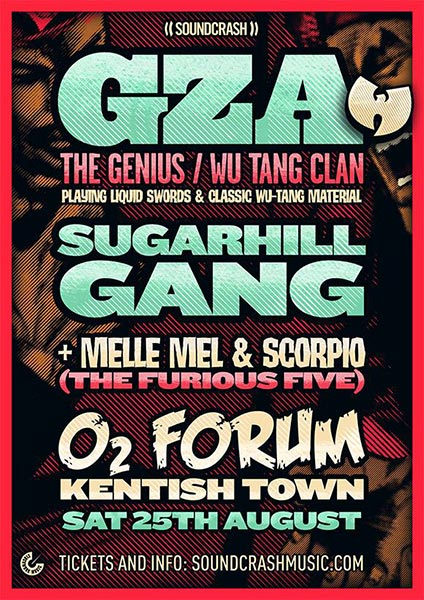 GZA at The Forum on Saturday 25th August 2018 Flyer