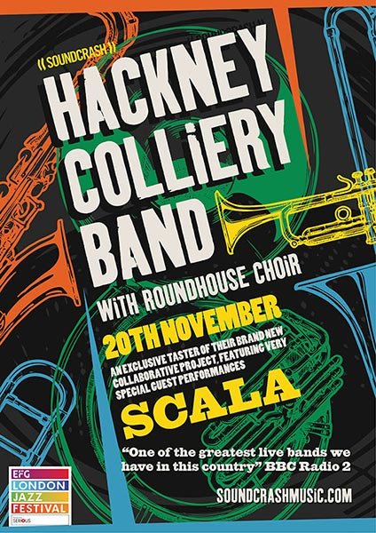 Hackney Colliery Band at The Roundhouse on Tuesday 20th November 2018 Flyer