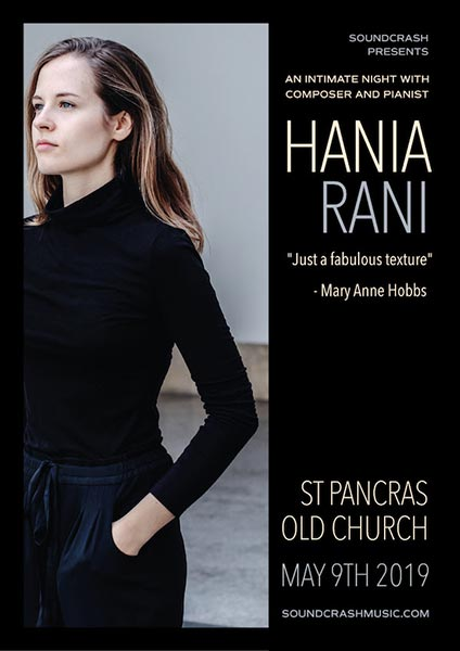 Hania Rani at St. Pancras Old Church on Thu 9th May 2019 Flyer