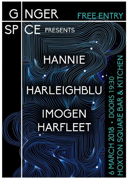 Harleighblu at Hoxton Square Bar & Kitchen on Wed 6th March 2019 Flyer