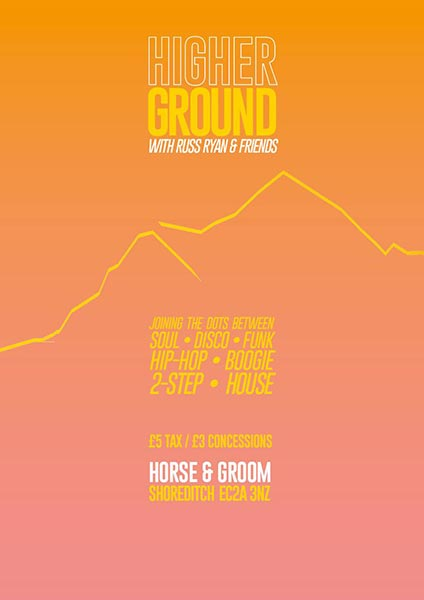 Higher Ground at Horse & Groom on Sat 22nd December 2018 Flyer