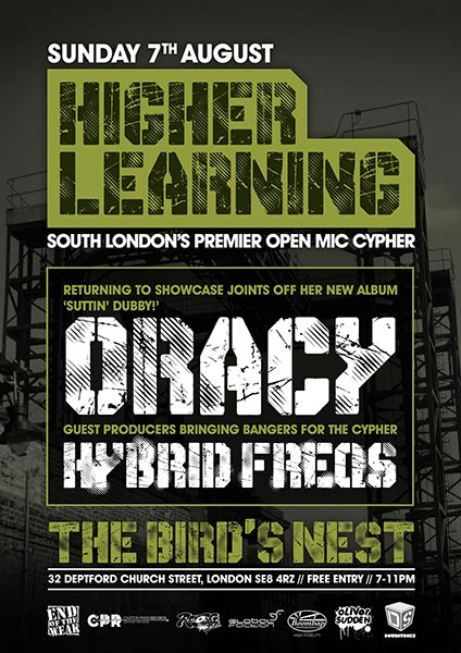 Higher Learning at Trapeze on Sunday 7th August 2016 Flyer