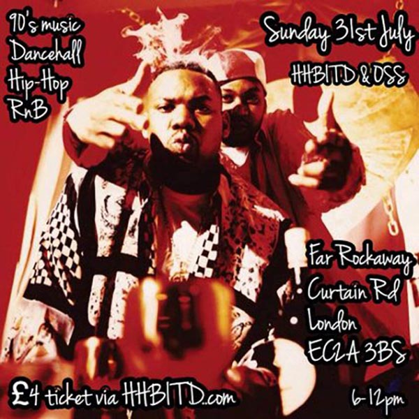 Hip Hop Back in the Day at Trapeze on Sunday 31st July 2016 Flyer