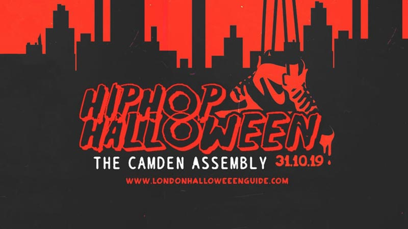 The HipHop Halloween 2019 at Camden Assembly on Thu 31st October 2019 Flyer