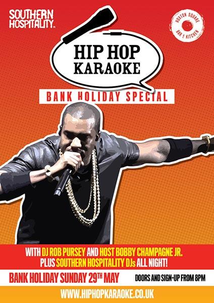 Hip Hop Karaoke Bank Holiday Special  at KOKO on Sunday 29th May 2016 Flyer