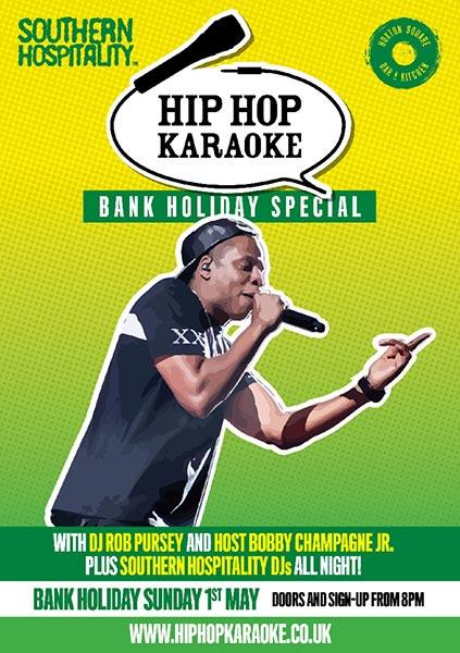 Hip Hop Karaoke at KOKO on Sunday 1st May 2016 Flyer