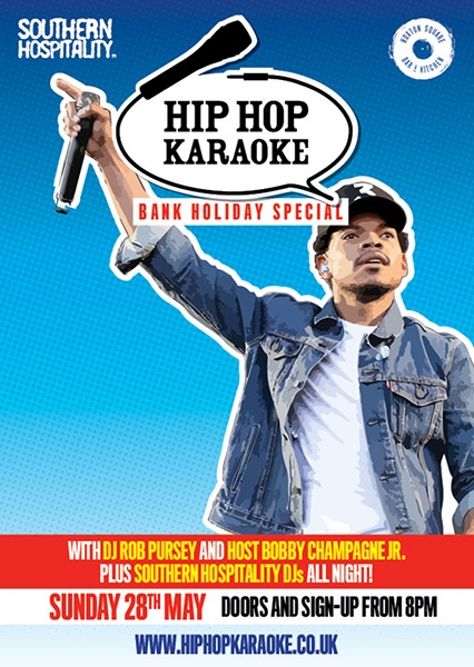 Hip Hop Karaoke at Hoxton Square Bar & Kitchen on Sun 28th May 2017 Flyer