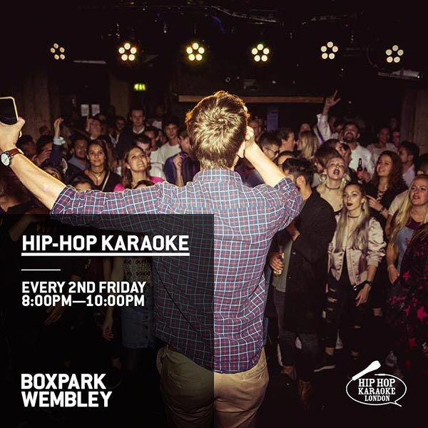 Hip Hop Karaoke at Boxpark Wembley on Fri 13th September 2019 Flyer