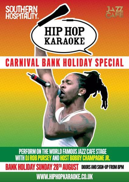 Hip Hop Karaoke at Trapeze on Sunday 28th August 2016 Flyer