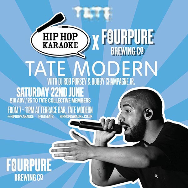 Hip Hop Karaoke at Tate Modern on Sat 22nd June 2019 Flyer