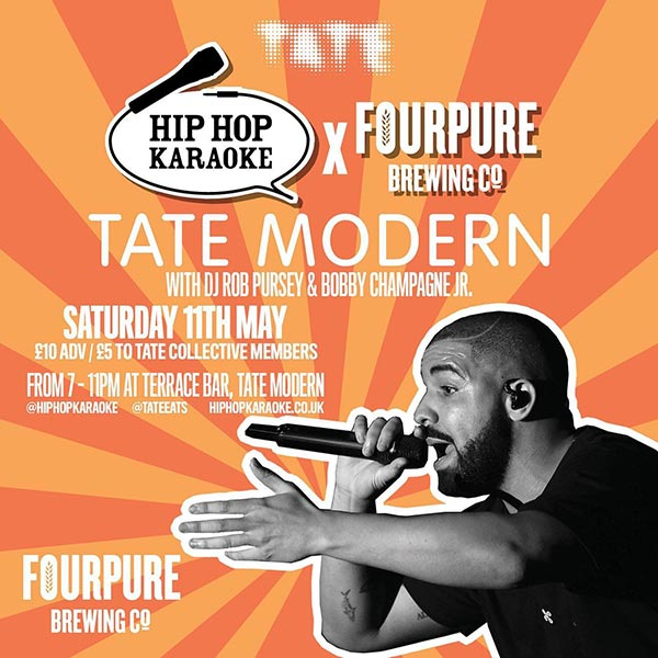 Hip Hop Karaoke at Tate Modern on Sat 11th May 2019 Flyer