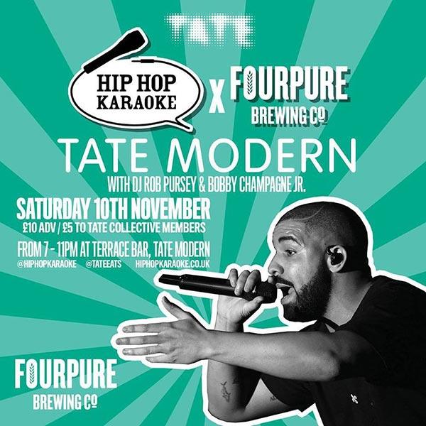 Hip Hop Karaoke at Tate Modern on Sat 10th November 2018 Flyer