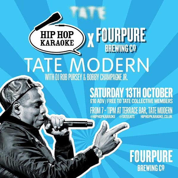Hip Hop Karaoke at Tate Modern on Sat 13th October 2018 Flyer