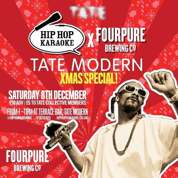 Hip Hop Karaoke at Tate Modern on Sat 8th December 2018 Flyer