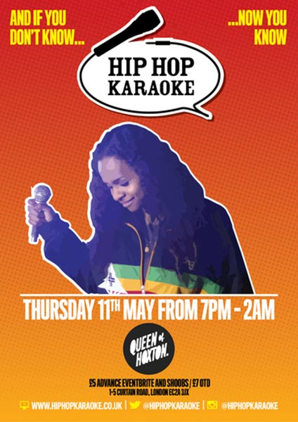 Hip Hop Karaoke at The Forum on Thursday 11th May 2017 Flyer