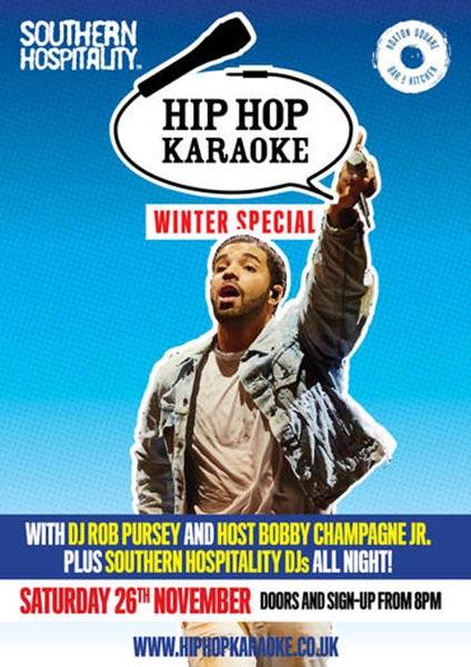 Hip Hop Karaoke Winter Special at Hoxton Bar & Kitchen on Saturday 26th November 2016 Flyer