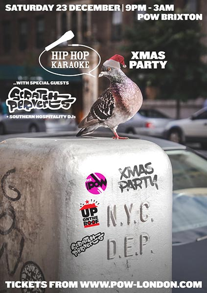 Hip-Hop Karaoke Xmas Party  at Prince of Wales on Saturday 23rd December 2017 Flyer