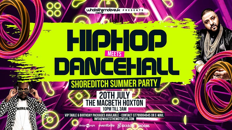 Hip-Hop Meets Dancehall at 333 Mother Bar on Sat 20th July 2019 Flyer