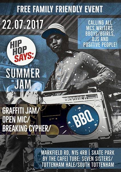 Summer Jam at Markfield Park on Sat 22nd July 2017 Flyer