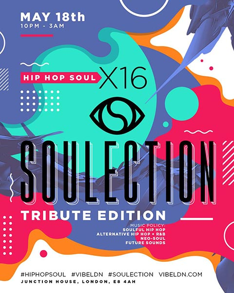 Hip Hop SOUL at Junction House on Sat 18th May 2019 Flyer