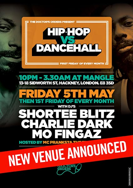 Hip Hop vs Dancehall at The Forum on Friday 5th May 2017 Flyer