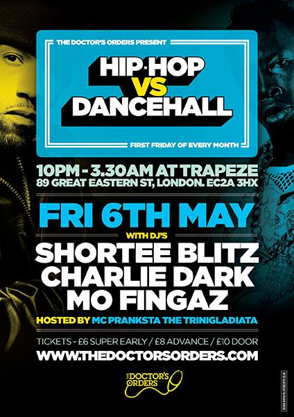 Hip Hop vs Dancehall at KOKO on Friday 6th May 2016 Flyer