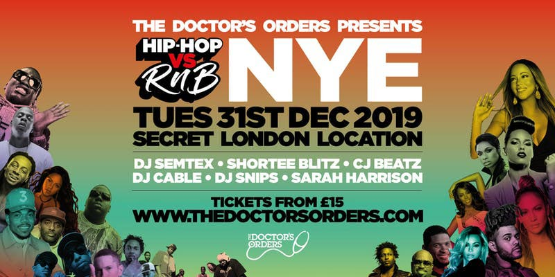 Hip Hop vs RnB NYE at Secret Location on Tue 31st December 2019 Flyer