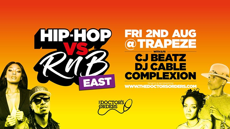 Hip Hop vs RnB at Trapeze on Fri 2nd August 2019 Flyer