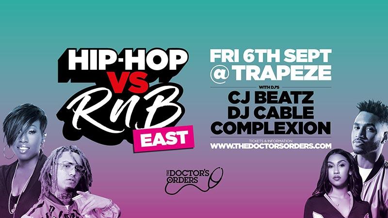 Hip Hop vs RnB at Trapeze on Fri 6th September 2019 Flyer