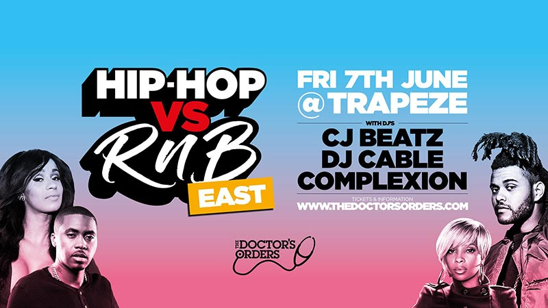 Hip Hop vs RnB at Trapeze on Fri 7th June 2019 Flyer