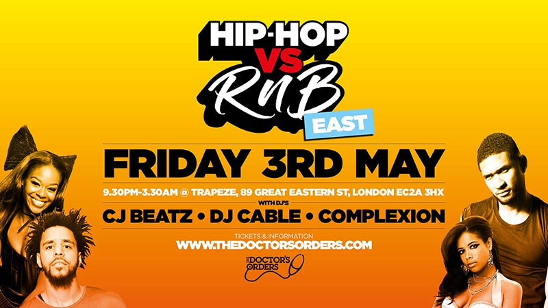 Hip-Hop vs RnB at Trapeze on Fri 3rd May 2019 Flyer