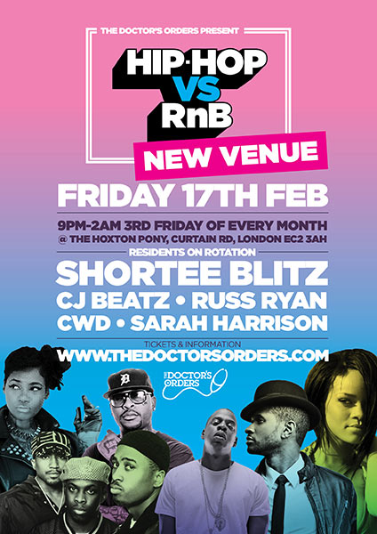Hip Hop vs RnB  at Islington Assembly Hall on Friday 17th February 2017 Flyer