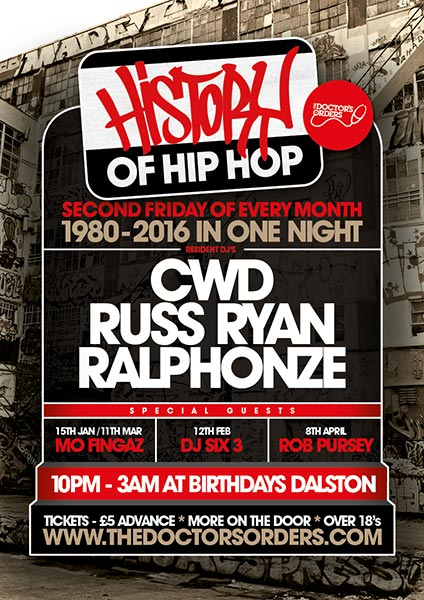 History of Hip Hop February Flyer 2016