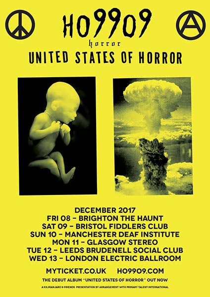Ho99o9 at Electric Ballroom on Wed 13th December 2017 Flyer