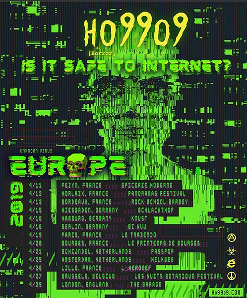 Ho99o9 at The Garage on Mon 29th April 2019 Flyer