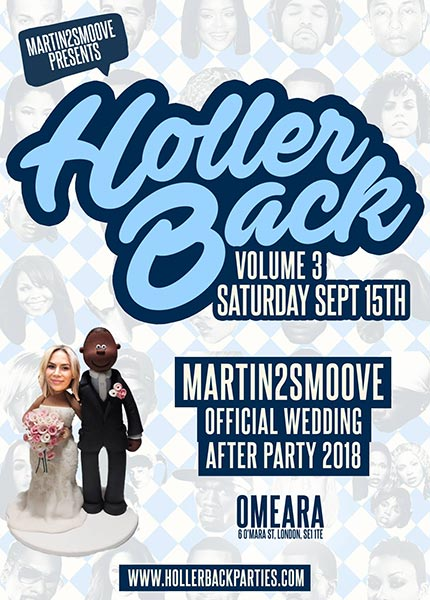 Holler Back! at Omeara on Sat 15th September 2018 Flyer