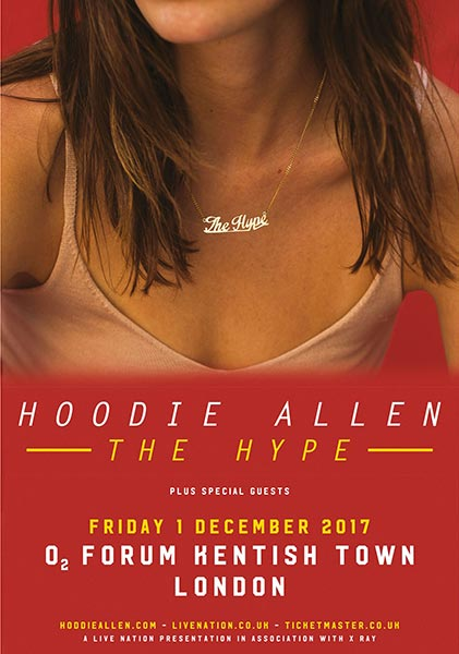 Hoodie Allen at Finsbury Park on Friday 1st December 2017 Flyer