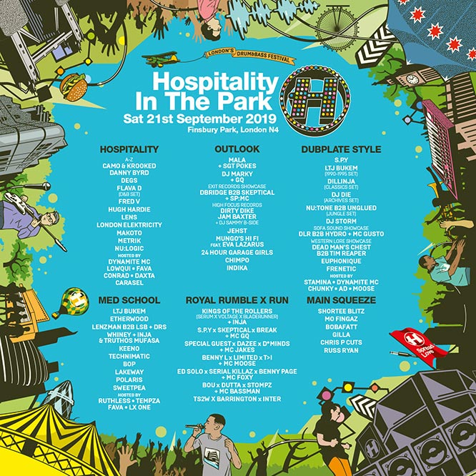 Hospitality in the Park at Finsbury Park on Sat 21st September 2019 Flyer
