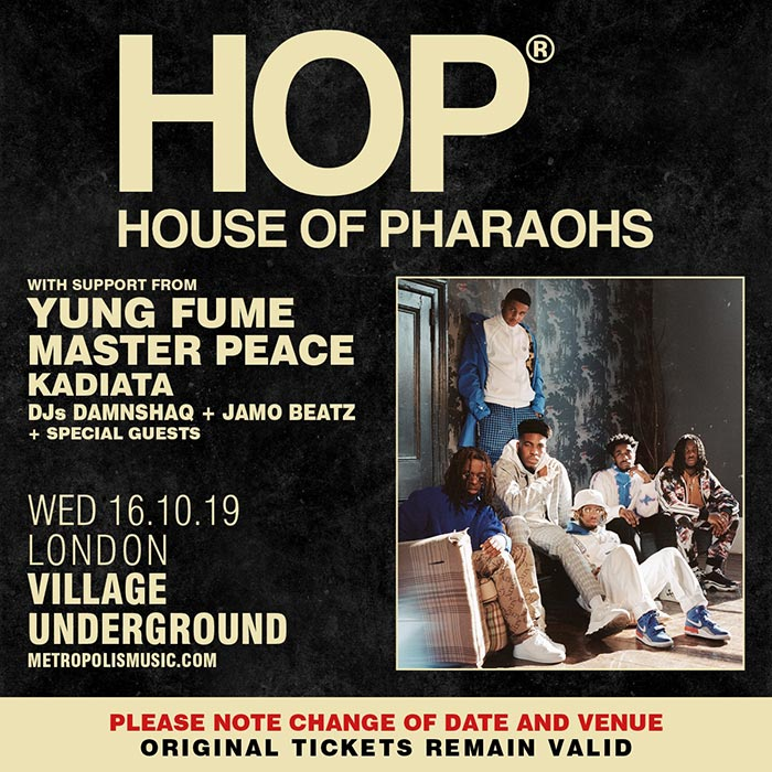 House of Pharaohs at Village Underground on Wed 16th October 2019 Flyer