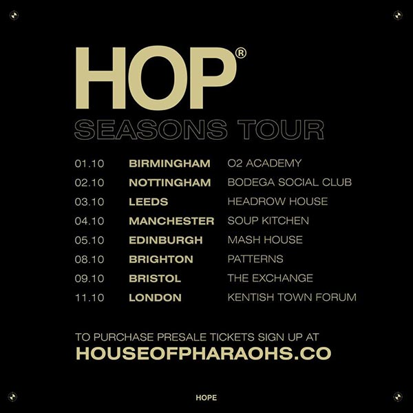 House of Pharaohs at The Forum on Friday 11th October 2019 Flyer