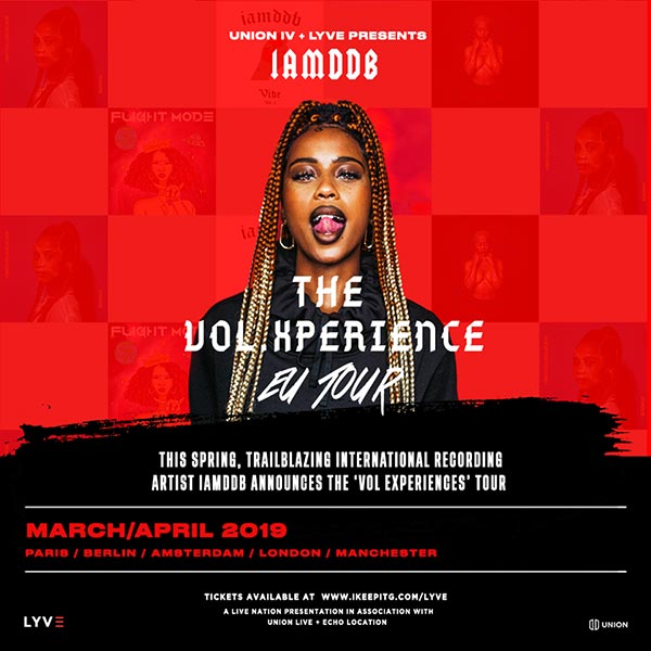 IAMDDB at The Roundhouse on Thu 4th April 2019 Flyer