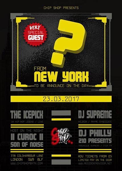 DJ Supreme, The Icepick & Very Special Guest. at Brixton Academy on Thursday 23rd March 2017 Flyer
