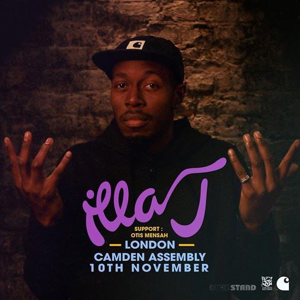 Illa J at Camden Assembly on Sat 10th November 2018 Flyer
