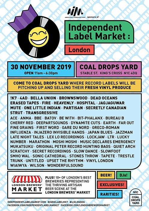 Independent Label Market at Coal Drops Yard on Sat 30th November 2019 Flyer